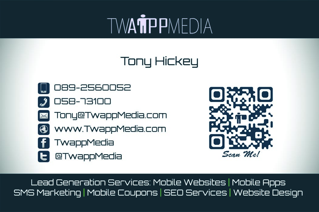 Graphic and logo design by twapp media based in waterford business card design front waterford colourmoves Images